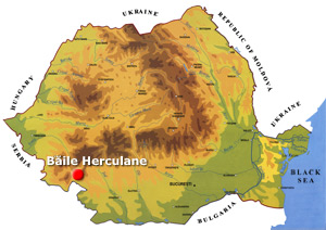 Romania Map - Baile Herculane