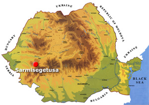 Romania Map - Sarmisegetuza
