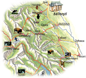 Bucovina Map - Balinesti Church