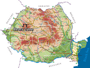 Romania Map - Bears Cave