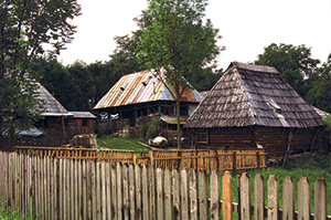 A traditional farmyard - Maramures