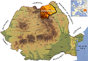 Map Romania - Bucovina