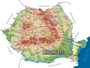 Romania Map - Bucharest