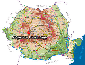 Romania Map -  Magureni Hermitage