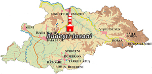 Maramures Map - Budesti Josani