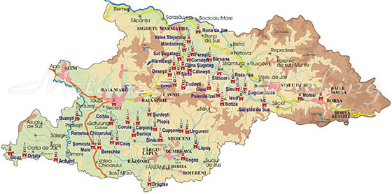 Map Maramures Wooden Churches