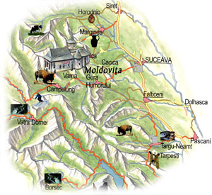 Bucovina Map - Moldovita Monastery