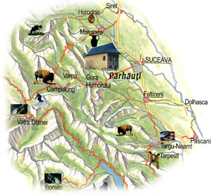 Bucovina Map - Parhauti Church