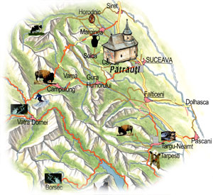Bucovina Map - Patrauti Church