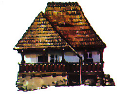Traditional Houses, Romania - Plopi (Mehedinti County)