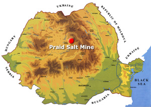 Romania Map - Praid salt mine