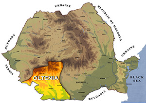 Romania Map - Oltenia